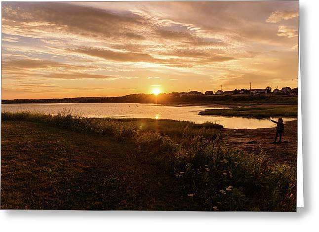 Greeting Card featuring the photograph Besides North Rustico Harbor by Chris Bordeleau