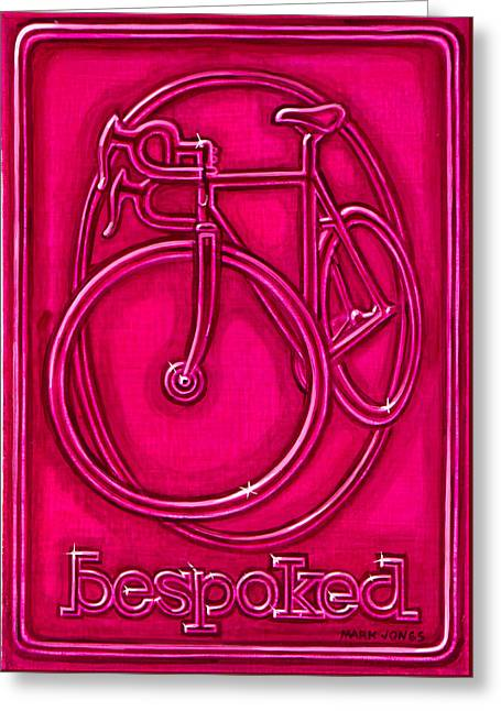 Bespoked In Raspberry  Greeting Card
