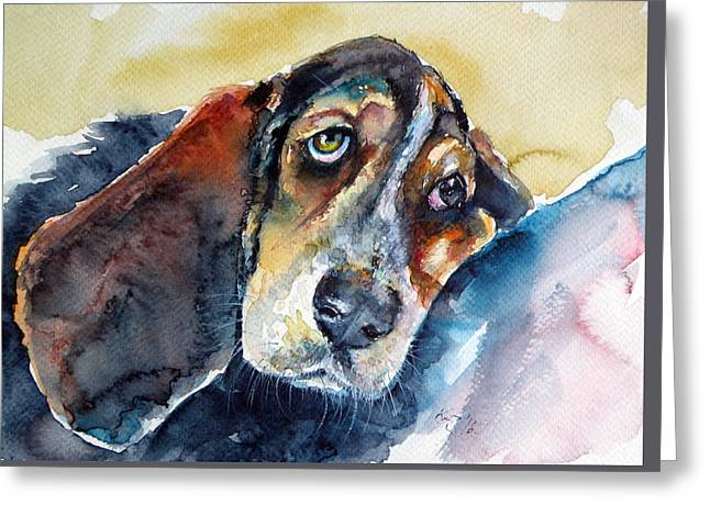 Besset Hound Greeting Card