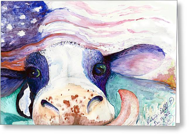 Bessie Greeting Card by Melinda Dare Benfield