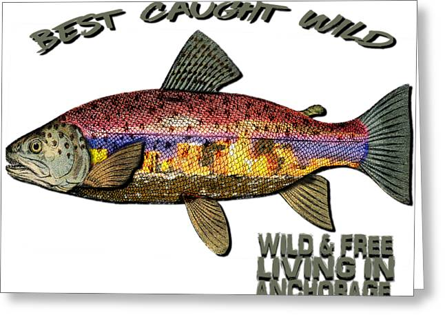 Fishing - Best Caught Wild - On Light No Hat Greeting Card