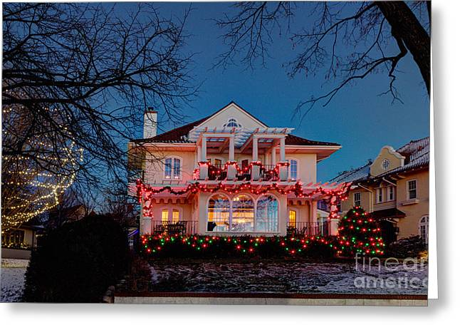 Best Christmas Lights Lake Of The Isles Minneapolis Greeting Card