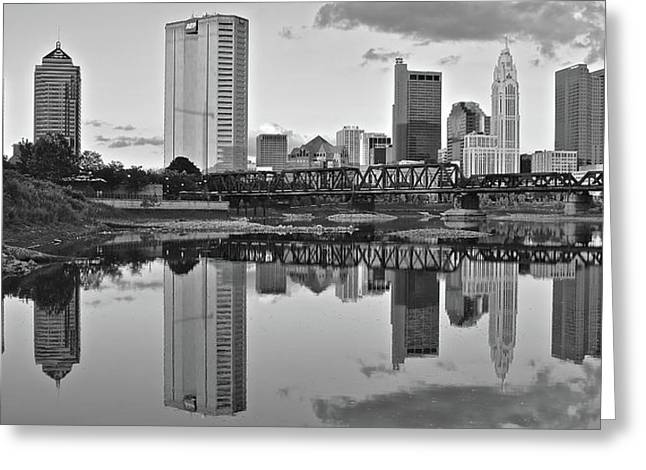 Greeting Card featuring the photograph Best Columbus Black And White by Frozen in Time Fine Art Photography