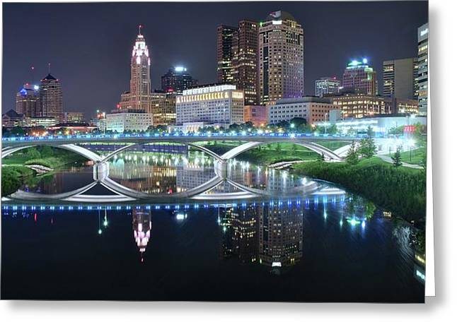 Best Columbus Pano 2017 Greeting Card