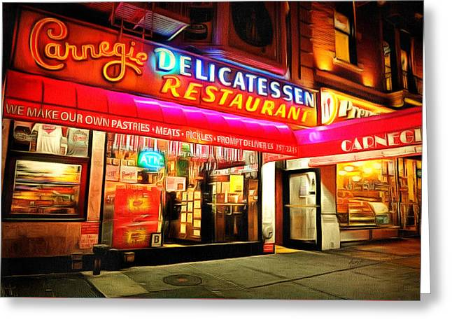 Best Deli In Nyc Greeting Card by Anthony Caruso