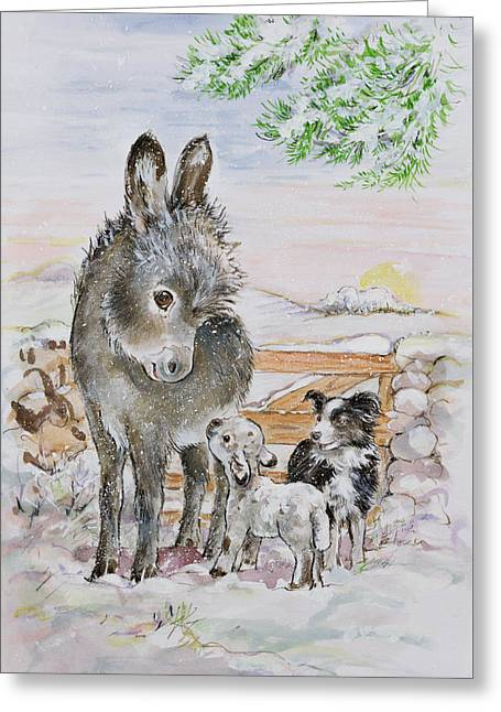 Best Friends Greeting Card by Diane Matthes