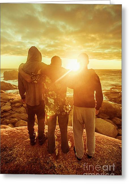 Best Friends Greeting The Sun Greeting Card by Jorgo Photography - Wall Art Gallery