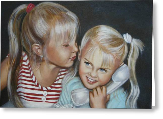 Greeting Card featuring the painting Best Friends by Joni McPherson