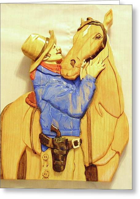 Scene Sculptures Greeting Cards - Best Friends Greeting Card by Russell Ellingsworth