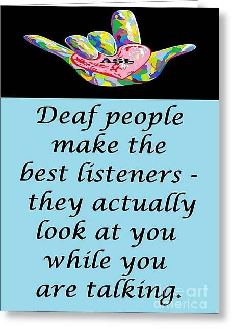 Best Listeners Greeting Card by Eloise Schneider