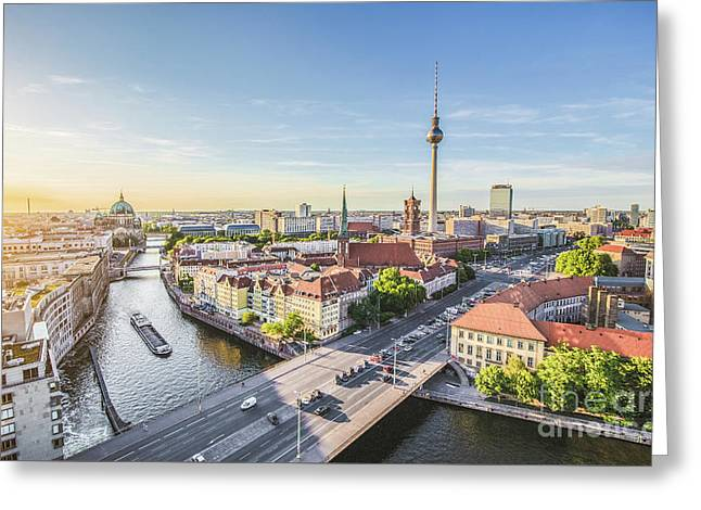 Best Of Berlin Greeting Card by JR Photography