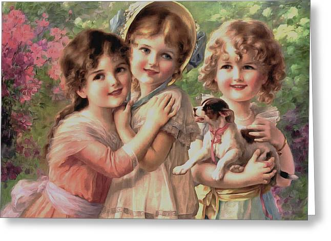 Best Of Friends Greeting Card by Emile Vernon
