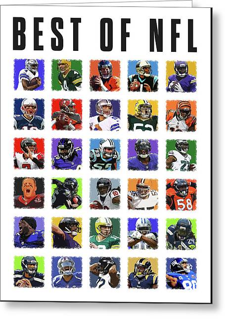 Best Of Nfl Greeting Card by Semih Yurdabak
