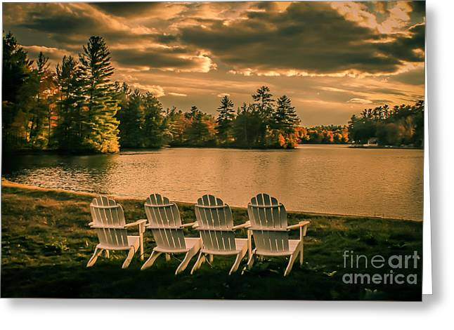 Best Seats In Town Greeting Card by Claudia M Photography