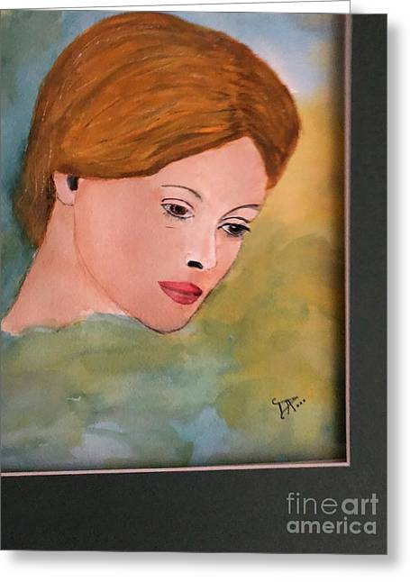 Greeting Card featuring the painting Beth by Donald Paczynski