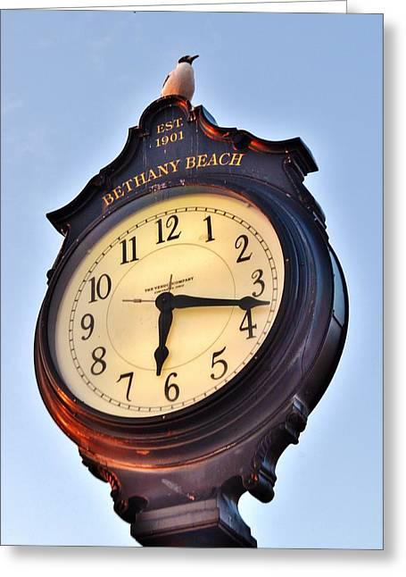 Bethany Beach Clock Tower Greeting Card