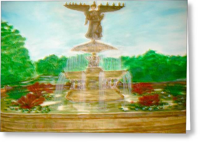 Bethesda Fountain Central Park Greeting Card
