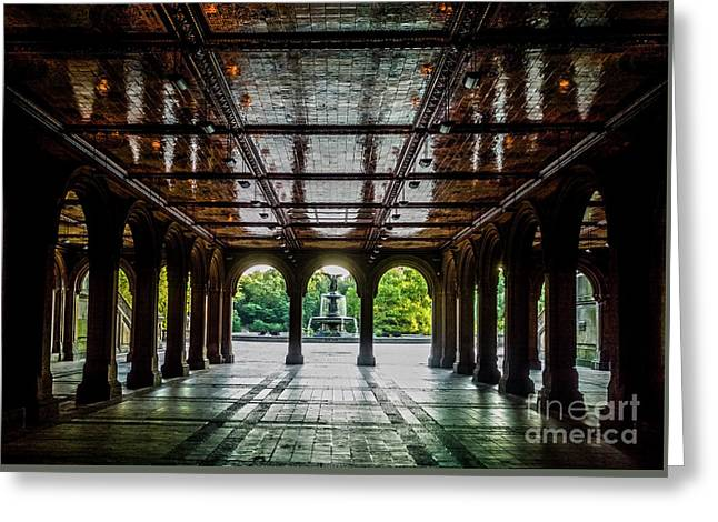 Bethesda Terrace Arcade 2 Greeting Card