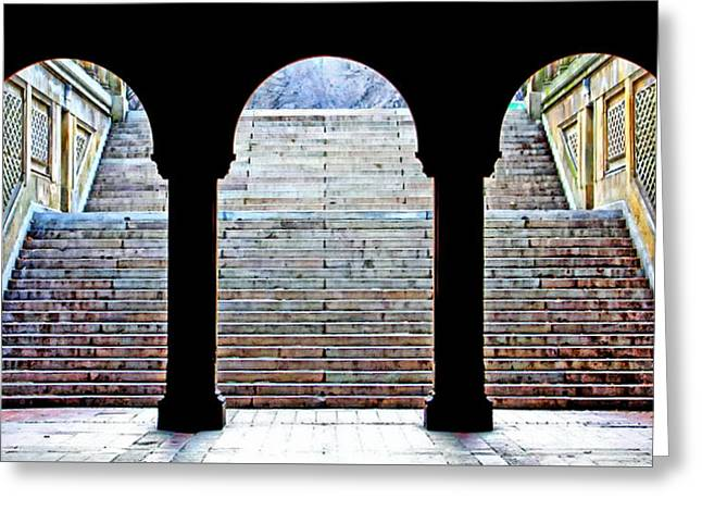 Bethesda Terrace Arcade Greeting Card by Suzanne Stout