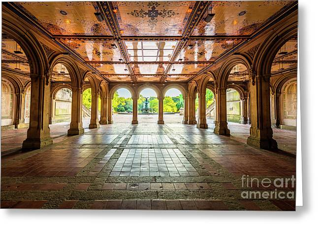 Bethesda Terrace Greeting Card by Inge Johnsson