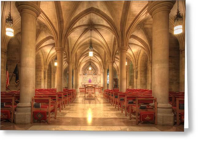 Bethlehem Chapel Washington National Cathedral Greeting Card