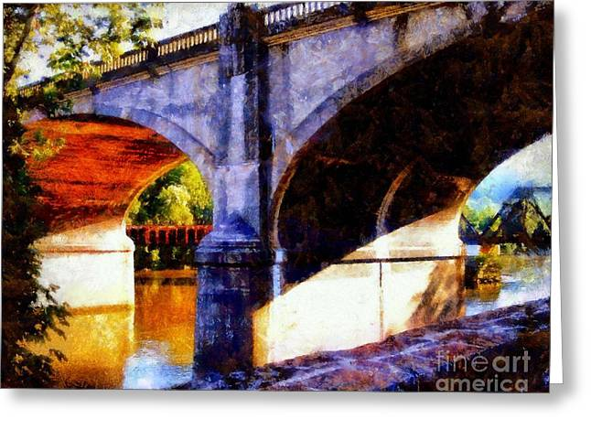Greeting Card featuring the photograph Bethlehem Pa Bridge - Tunnel Vision by Janine Riley