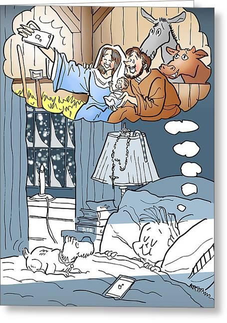 Nativity Selfie Greeting Card