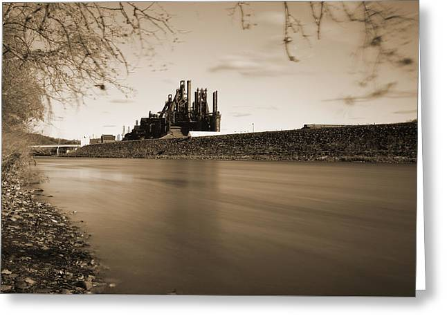 Bethlehem Steel Along The Lehigh Greeting Card by Jennifer Ancker