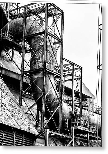 Bethlehem Steel - Black And White Industrial Greeting Card by Bill Cannon