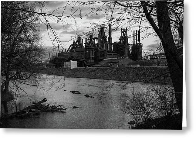 Bethlehem Steel Bw Greeting Card