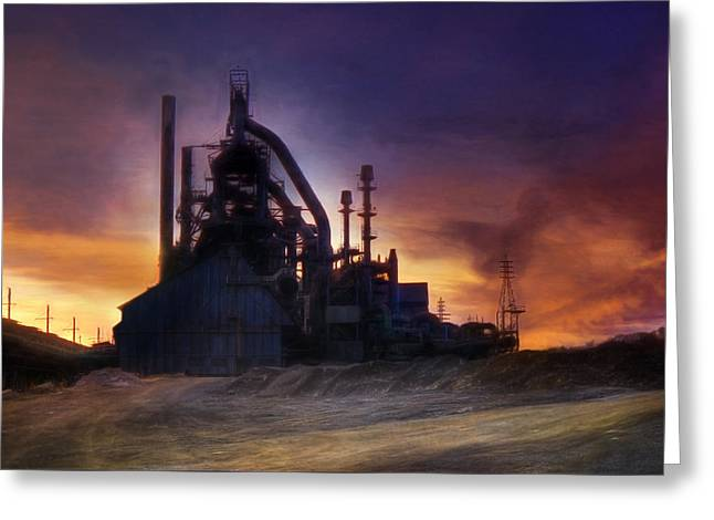 Bethlehem Steel Greeting Card by Lori Deiter