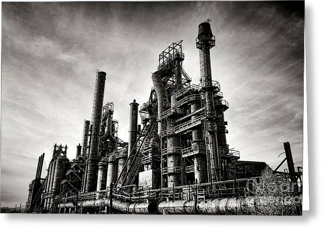 Bethlehem Steel Greeting Card by Olivier Le Queinec