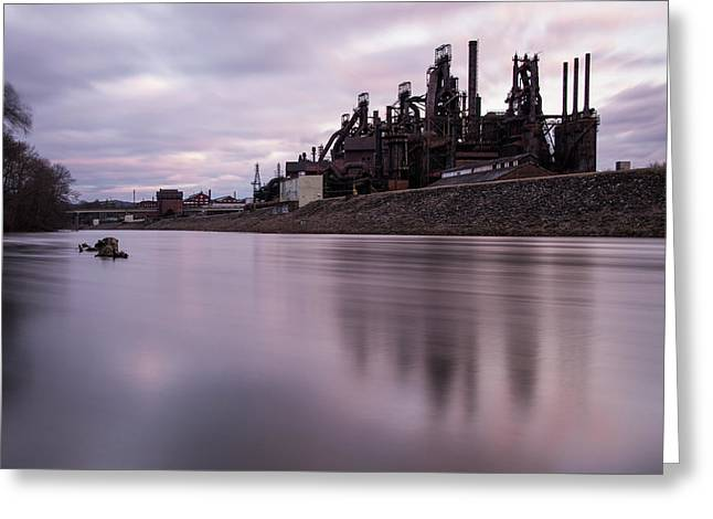 Bethlehem Steel Sunset Greeting Card