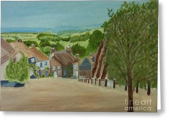 Gold Hill, Shaftesbury Dorset S W England Greeting Card