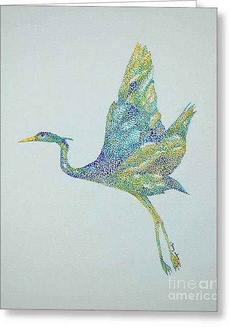 Beth's Egret Greeting Card