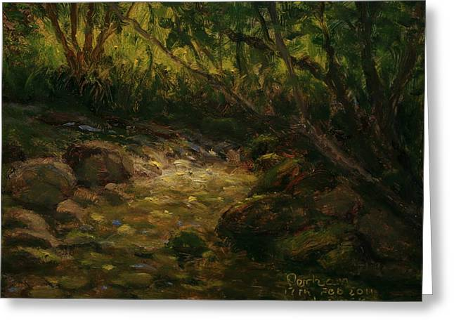 Terry Perham Greeting Cards - Bethunes Gully Dunedin NZ Greeting Card by Terry Perham