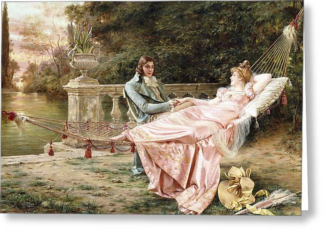 Betrothed Greeting Card by Joseph Frederic Charles Soulacroix