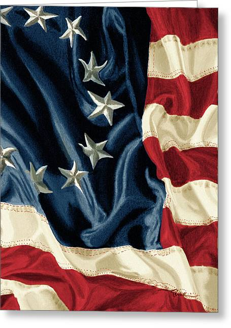 Betsy Ross Flag Greeting Card by Douglas Rowe