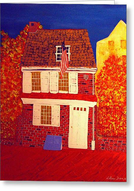 Betsy Ross's House Greeting Card