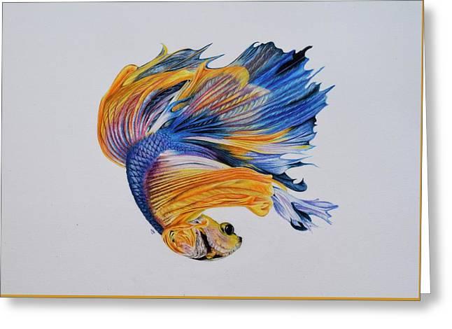 Betta Fish 3 Greeting Card by Biophilic Art