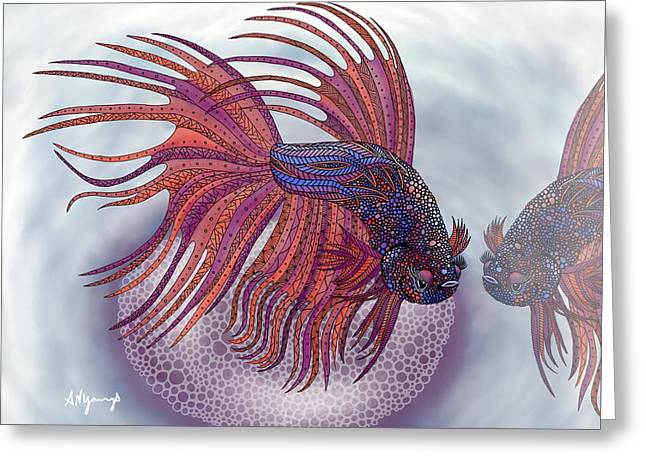 Betta Fish Greeting Card by Aimee N Youngs
