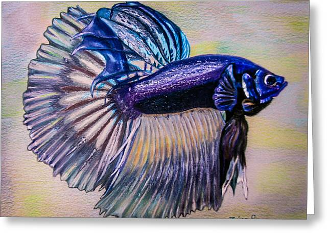 Betta Fish Greeting Card by Zina Stromberg