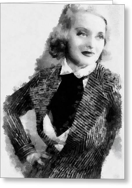 Bette Davis Actress Greeting Card by Esoterica Art Agency