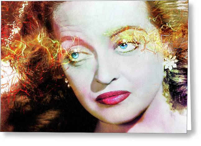 Bette Davis Eyes Greeting Card