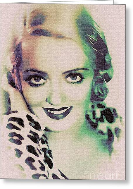 Bette Davis - Hollywood Great Greeting Card