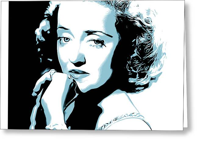 Bette Davis Greeting Card by Greg Joens