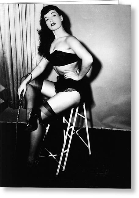 Bettie Page Greeting Card