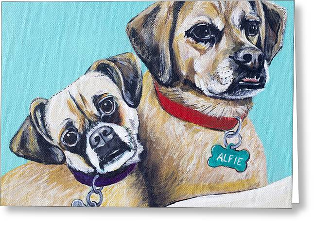 Betty And Alfie Greeting Card