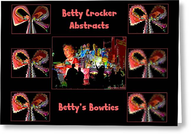 Betty Crocker's Abstracts - Betty's Bowties Greeting Card by Marian Bell