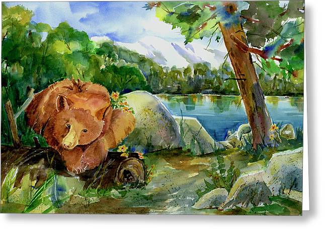 Between A Rock And Hardplace Greeting Card